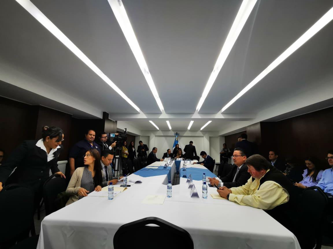 Comisión de Asuntos Electorales del Congreso escuchar a los aspirantes a magistrados