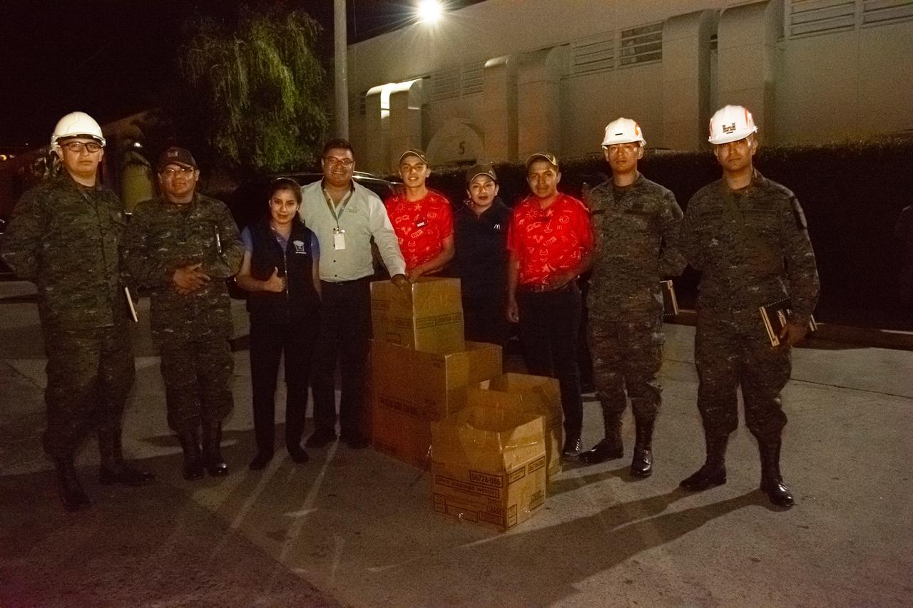 Donativo alimento servidores públicos Villa Nueva