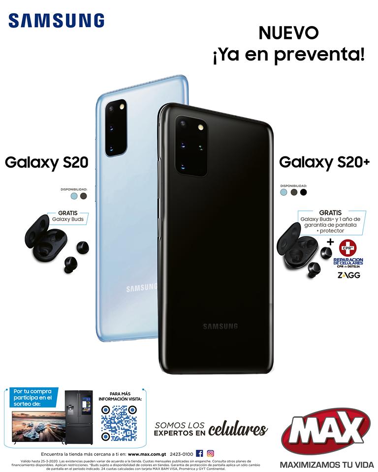 Galaxy S20 Tiendas MAX