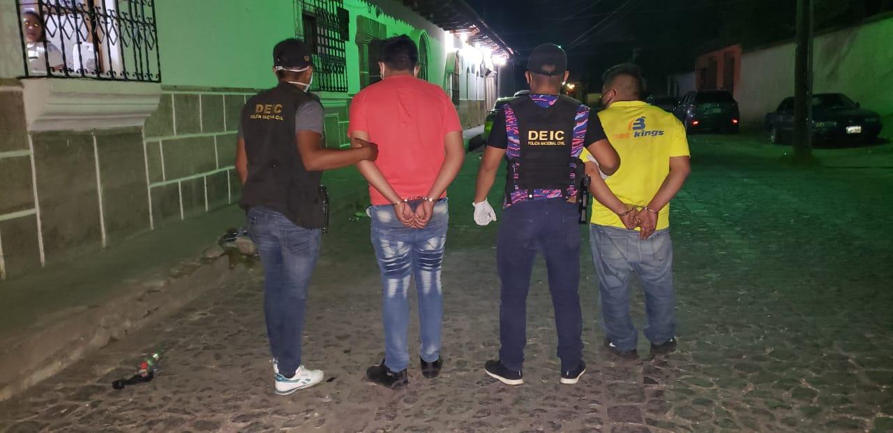 Capturan a unabanda de asaltantes en Antigua Guatemala