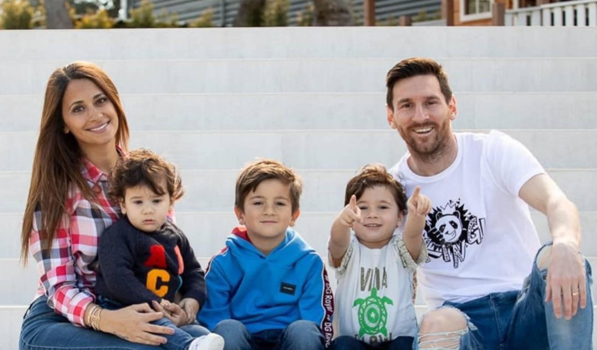 Familia de Messi, feliz Pascua