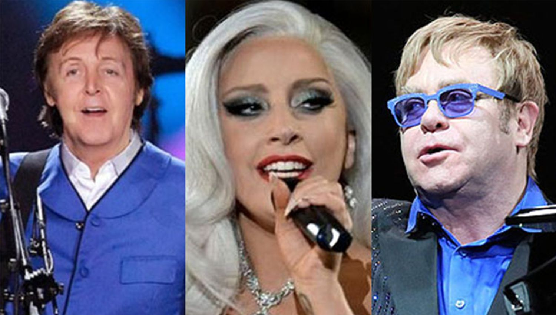 Elton John, Paul McCartney y Lady Gaga