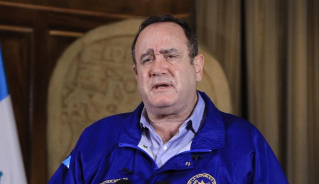 Presidente Alejandro Giammattei medidas de confinamiento por el coronavirus
