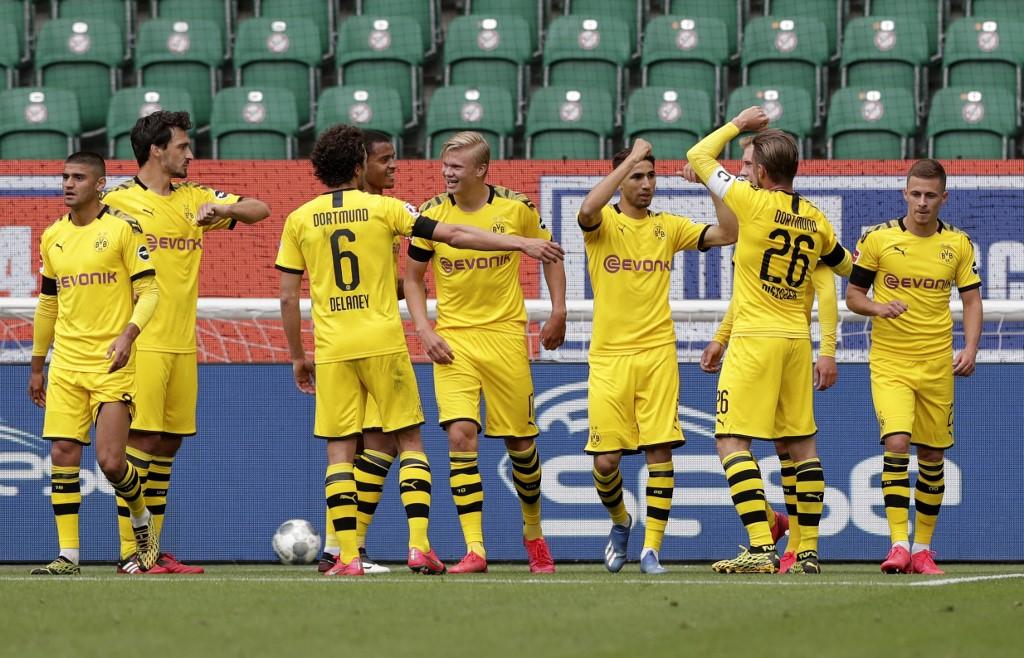 Victoria del Borussia Dortmund frente al Wolfsburg