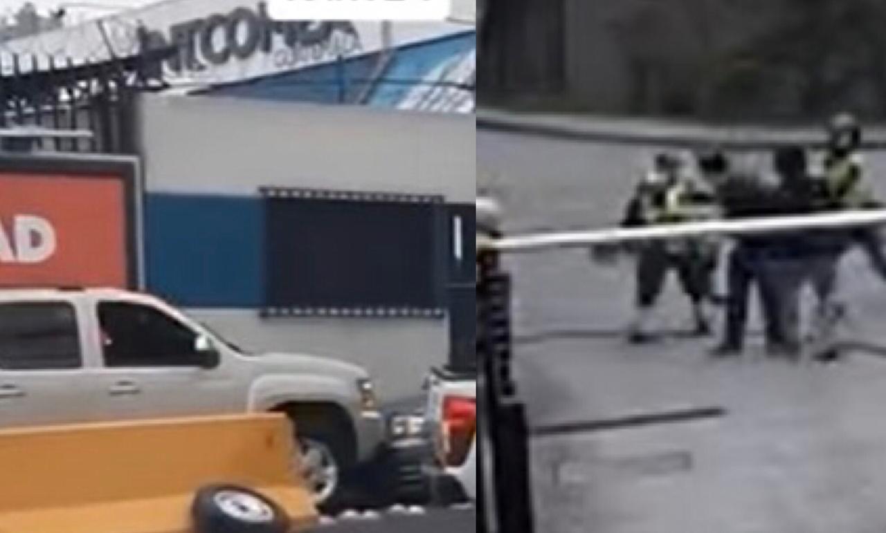Captan a conductor de vehículo cometiendo abuso, acompañantes agreden a agentes de tránsito