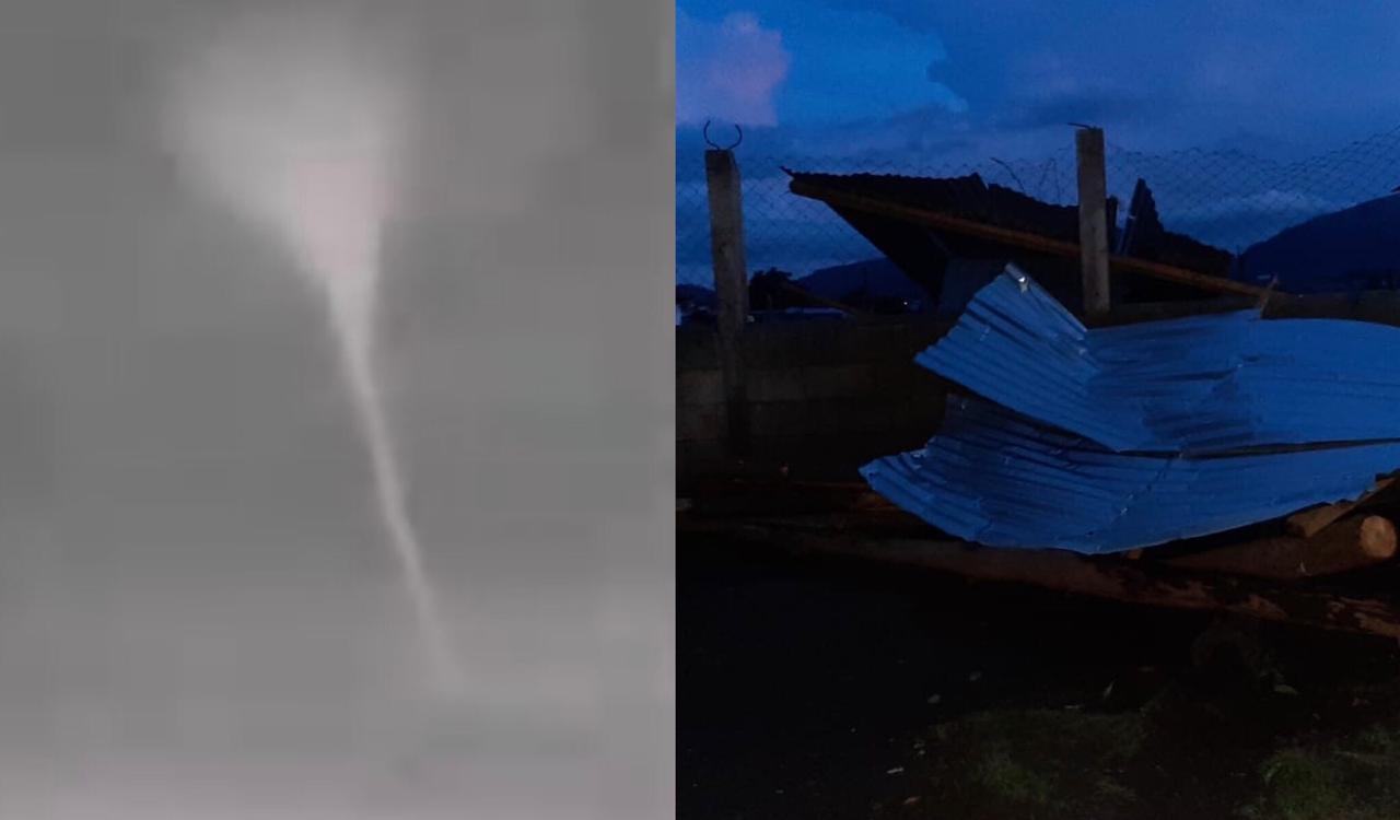 VIDEO | Fuertes vientos generan daños en viviendas en Chiantla