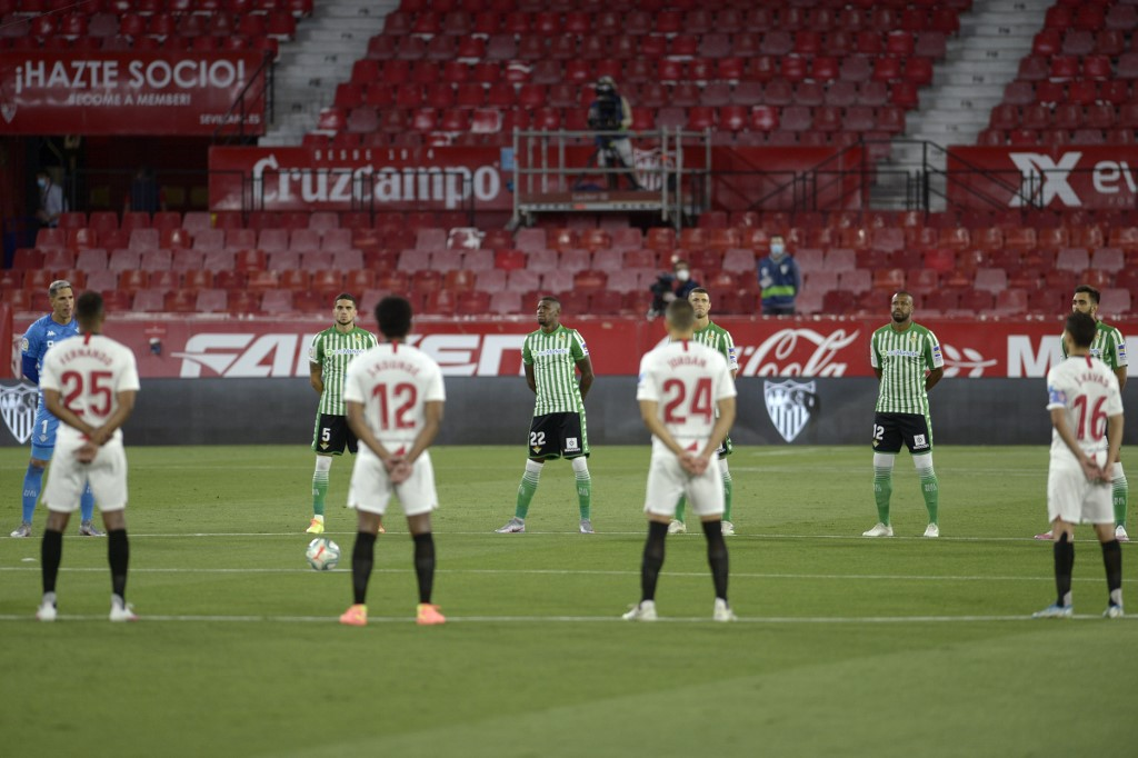 Minuto silencio, Sevilla vs Betis LaLiga