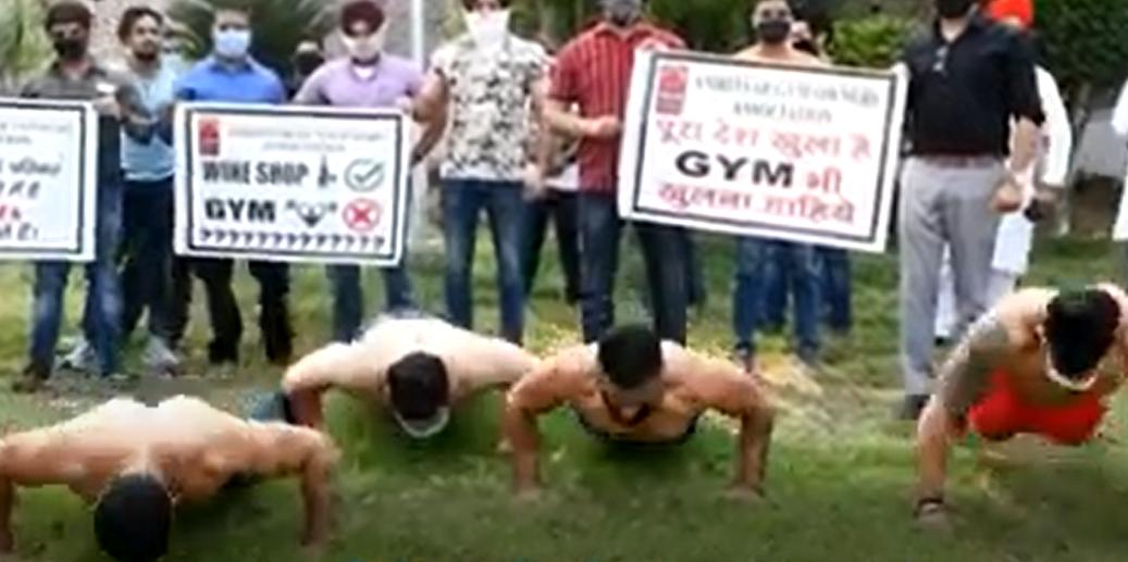 Una protesta con músculo para reabrir gimnasios