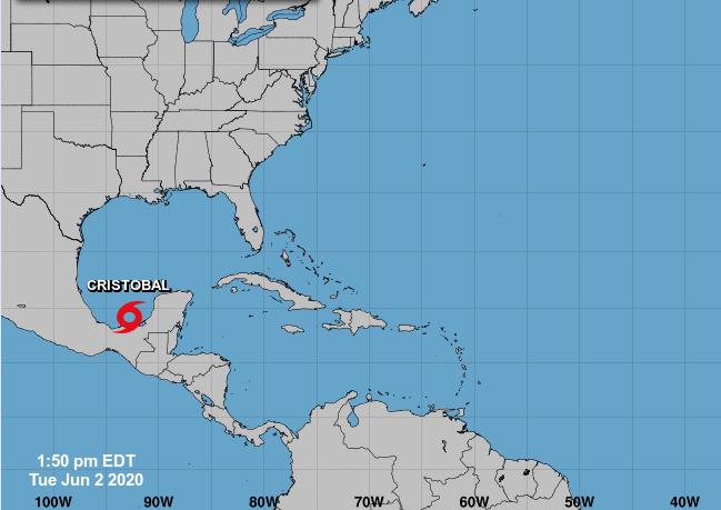 Tormenta tropical Cristóbal se forma en el golfo de México
