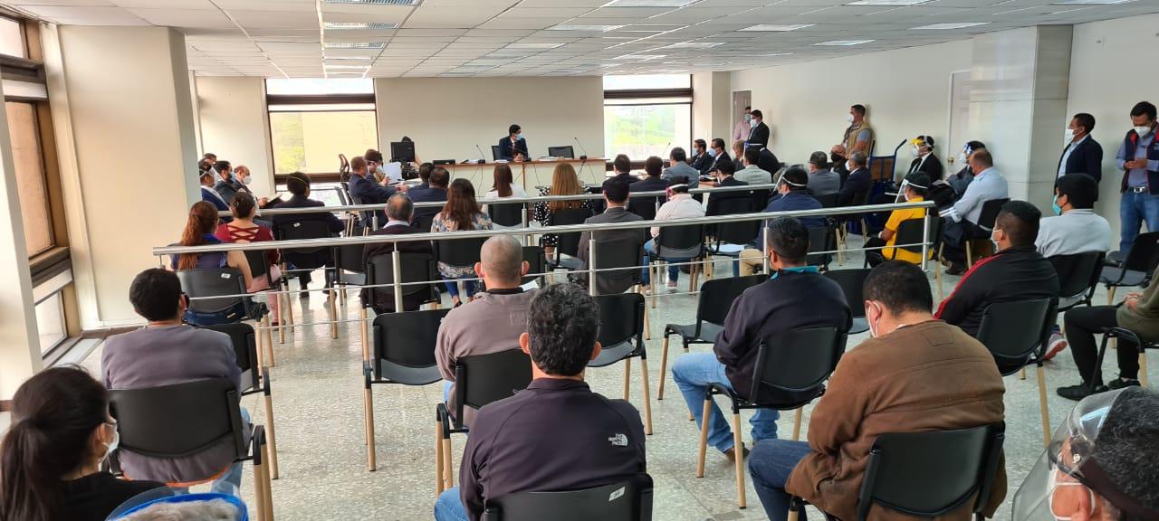 audiencia de primera declaración por caso Libramiento de Chimaltenango