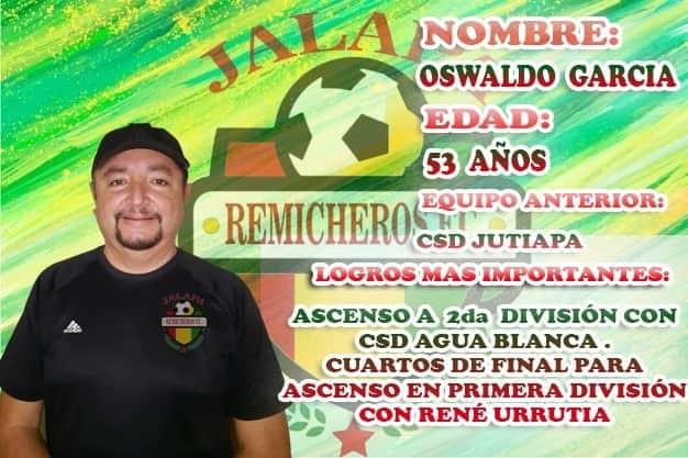 Carlos García, técnico de Remicheros FC