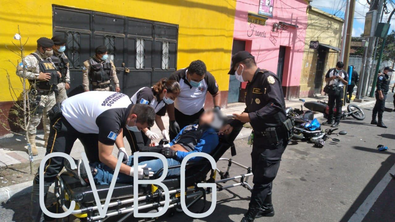 accidente de motocicletas en avenida Elena