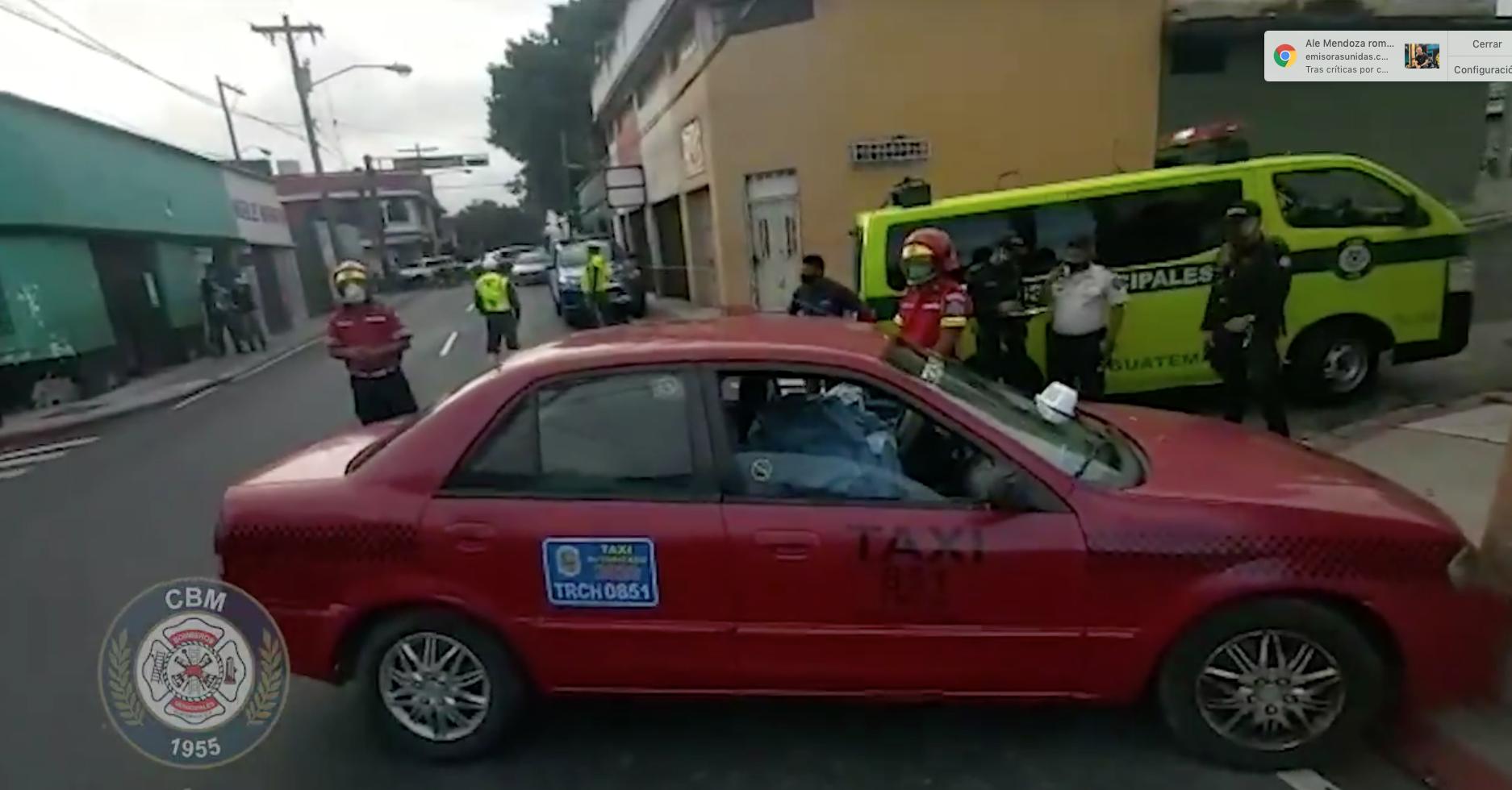ataque armado contra taxi en zona 5
