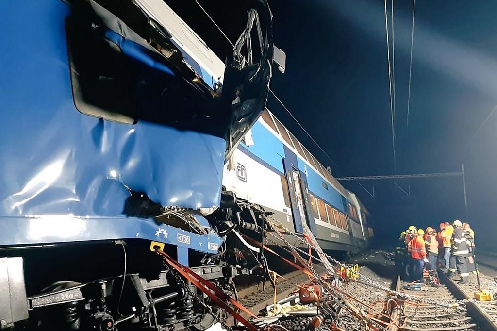 Choque de trenes en Praga