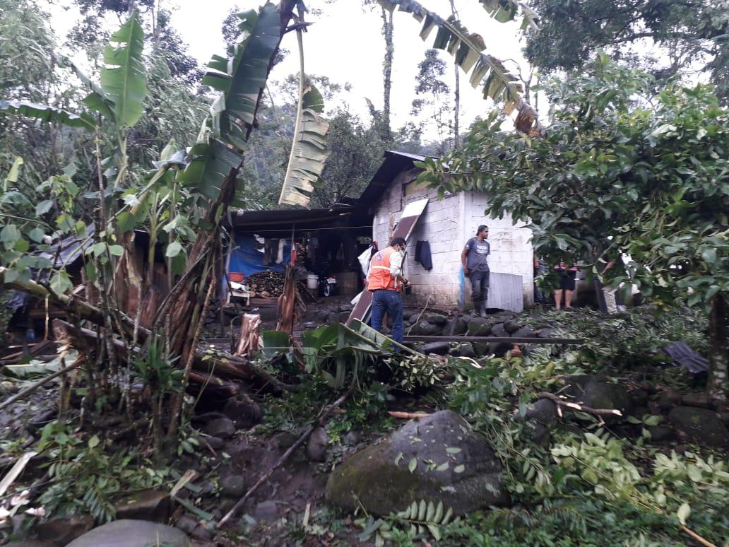 daños por lluvias en San Rafael Pie de la Cuesta, San Marcos