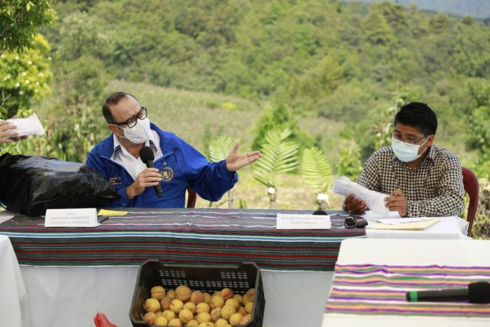 presidente Alejandro Giammattei visita Quetzaltenango
