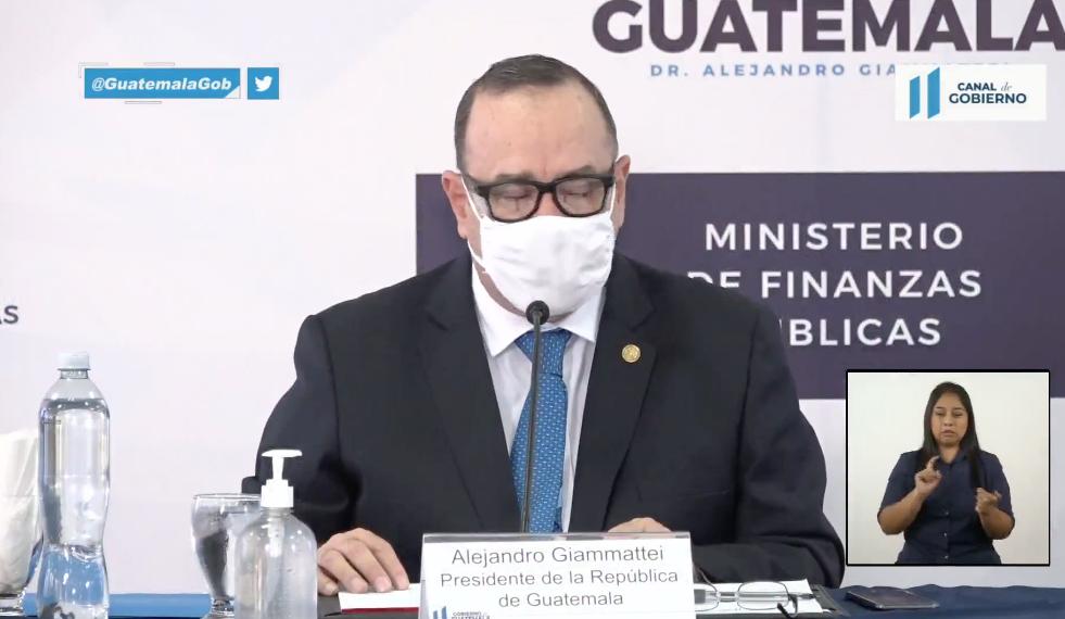 presidente Alejandro Giammattei presenta plataforma de control de gastos de ONG