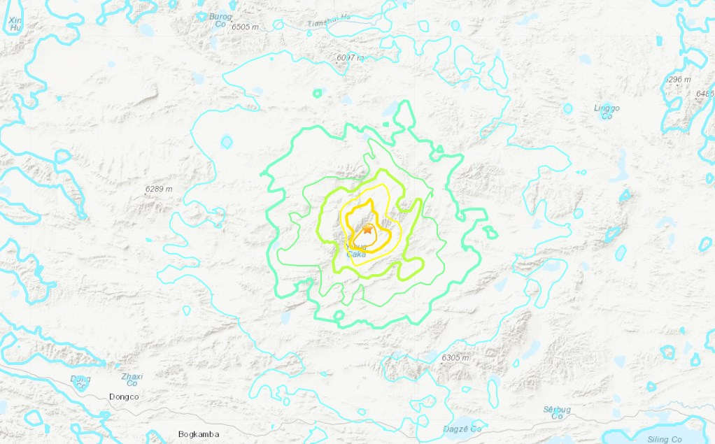 Sismo sacude la región autónoma del Tíbet