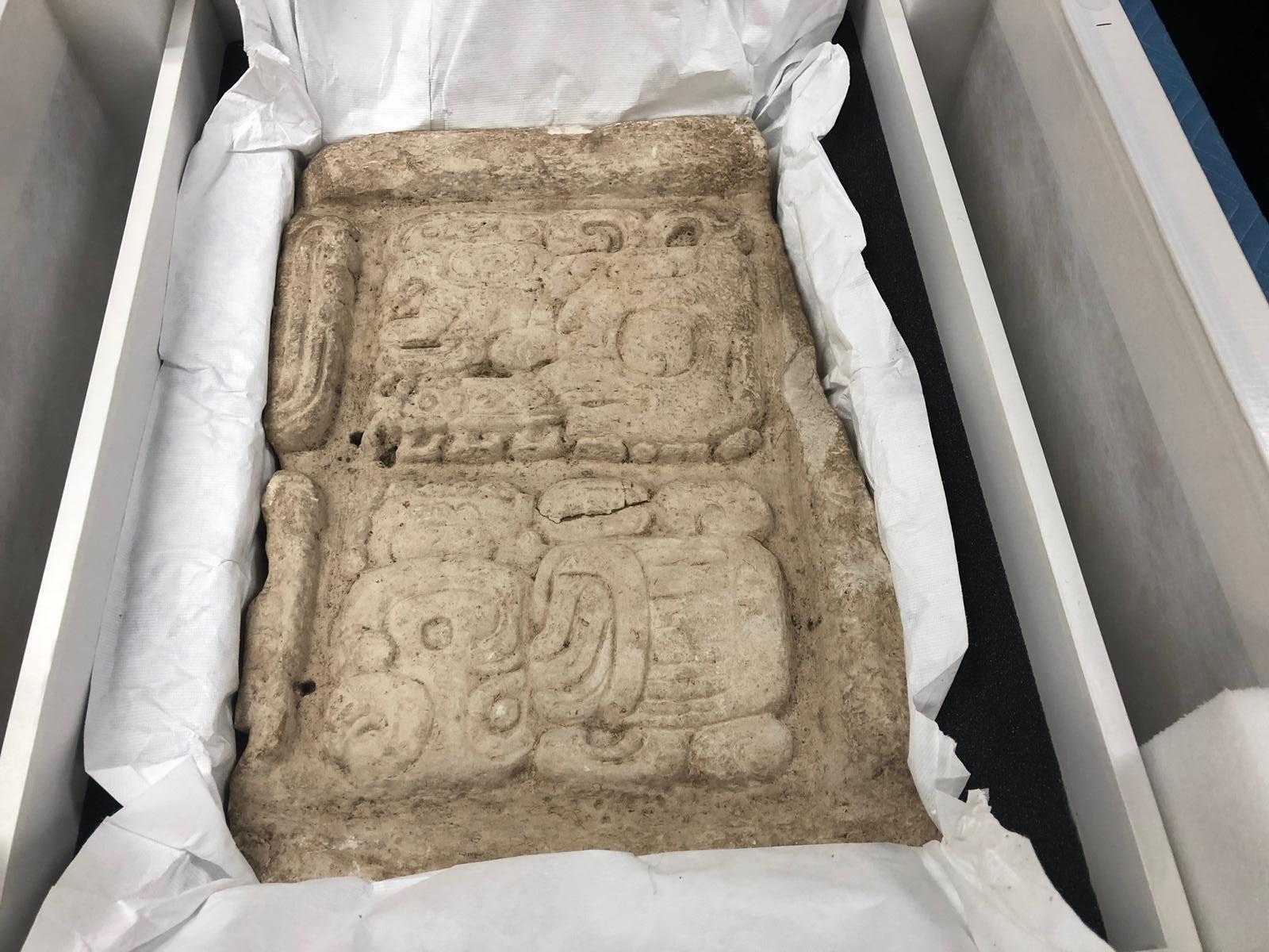 Pieza arqueológica del sitio Ceibal.