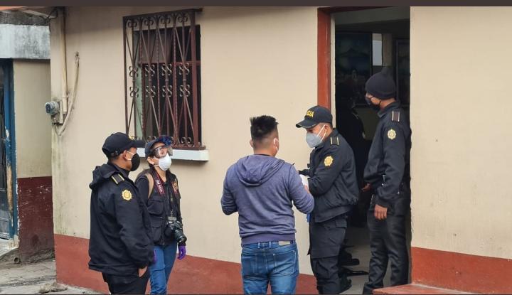 allanamientos por incendio en municipalidad de San Lucas Tolimán