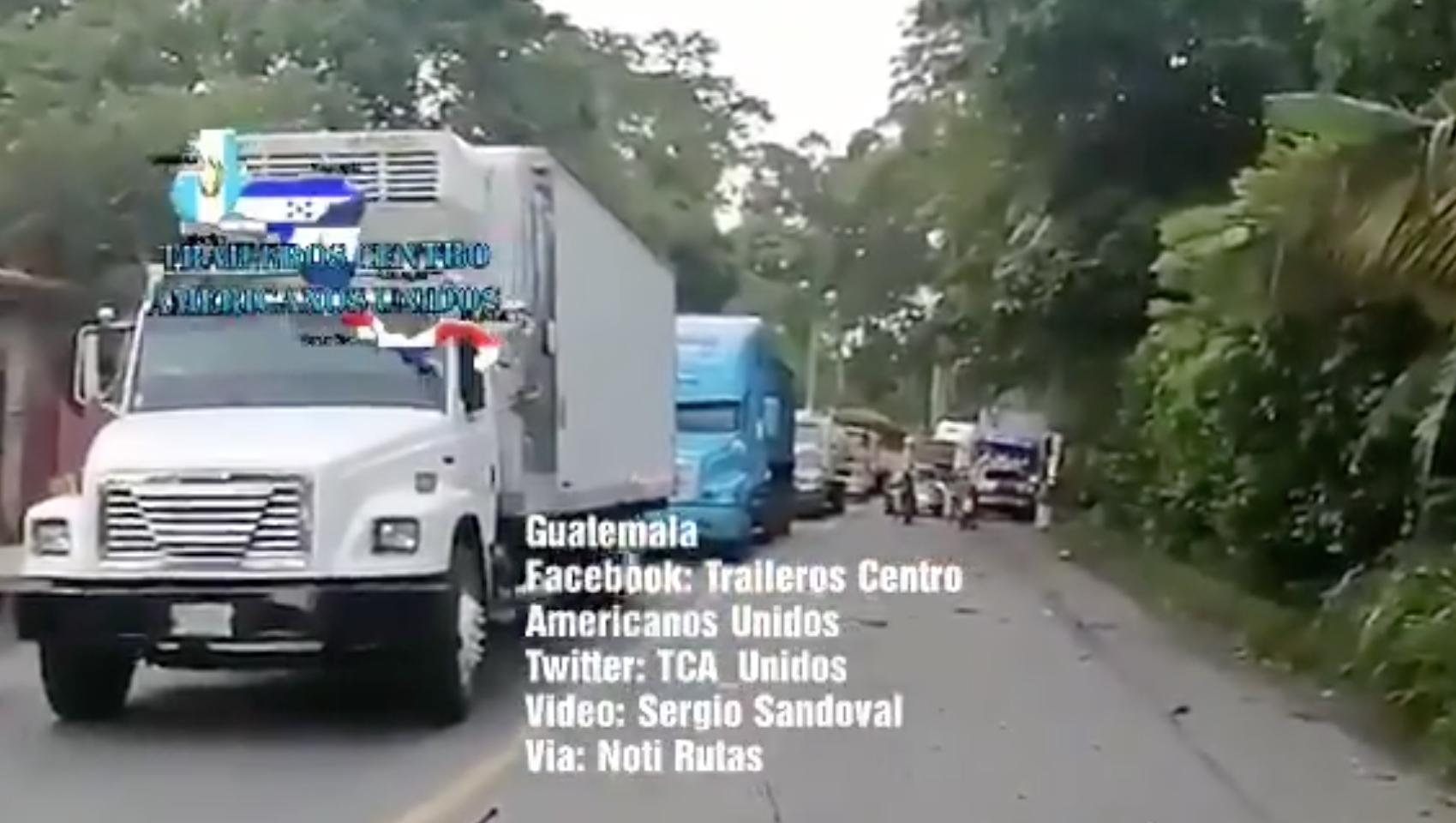 bloqueo de transportistas en ruta al Atlántico