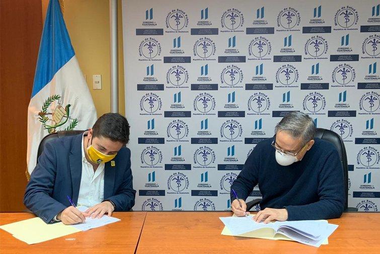 convenio entre municipalidad de Santa Catarina Pinula y el MSPAS