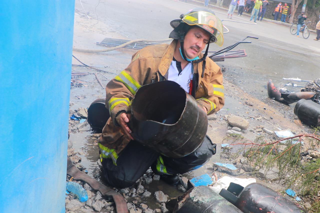 explosión en expendio de gas en zona 13