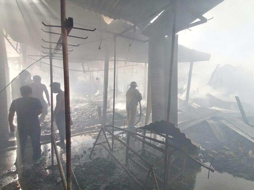 incendio en Puerto San José