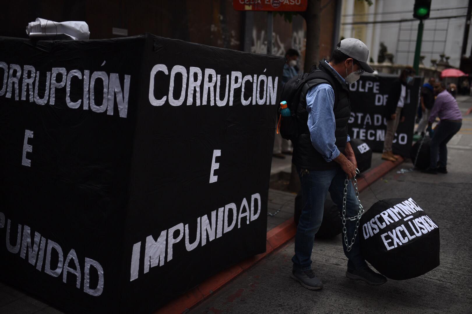 Lucha contra la corrupción e impunidad.
