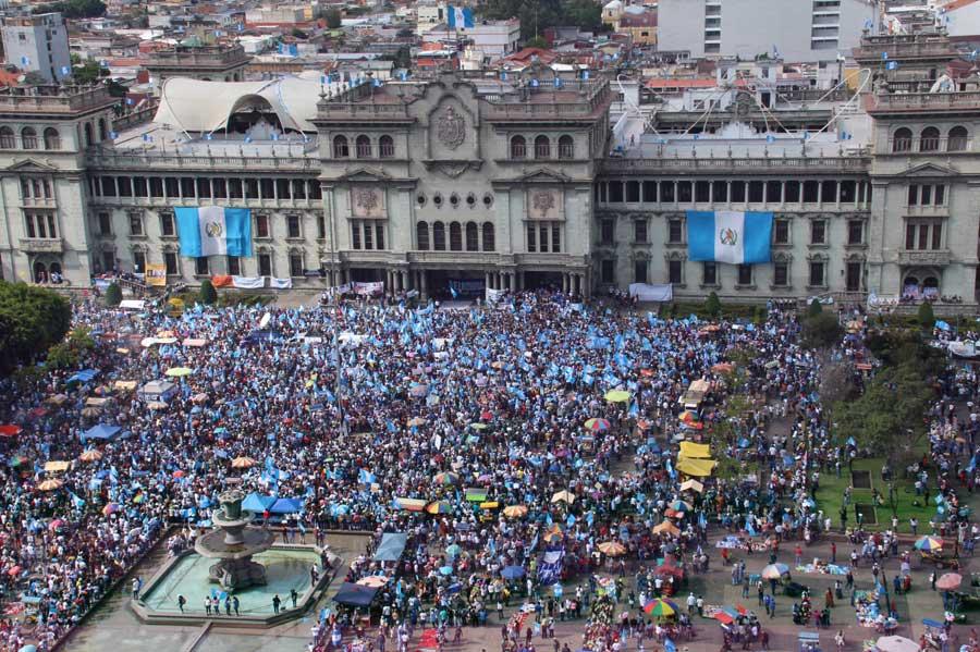 Manifestación en el Parque Central
