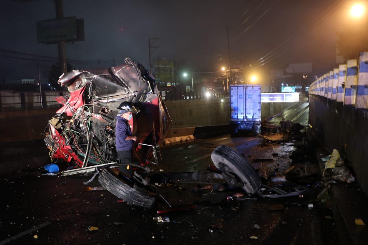 piloto de tráiler muere en accidente en ruta a El Salvador