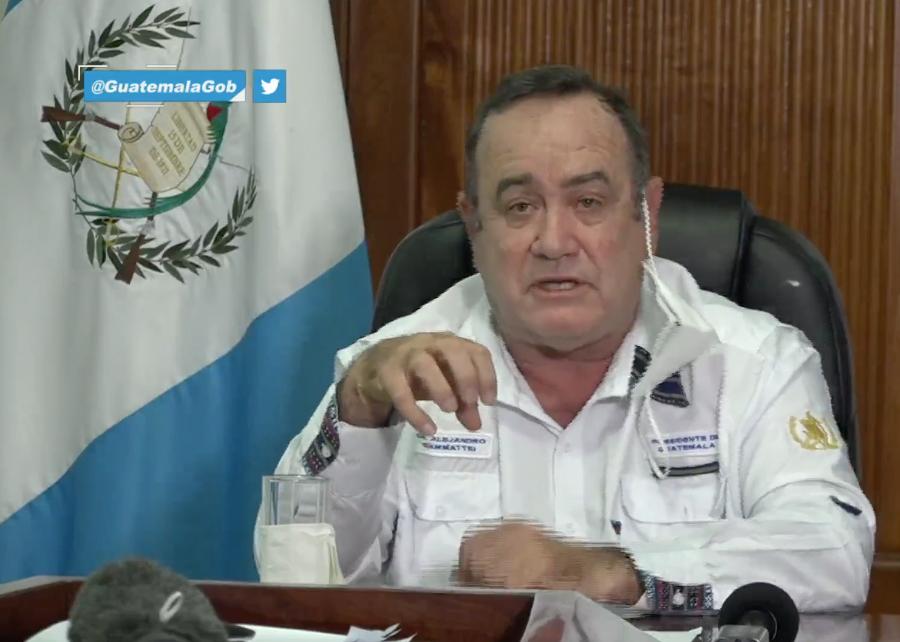 presidente Alejandro Giammattei se refiere a desalojo en Alta Verapaz