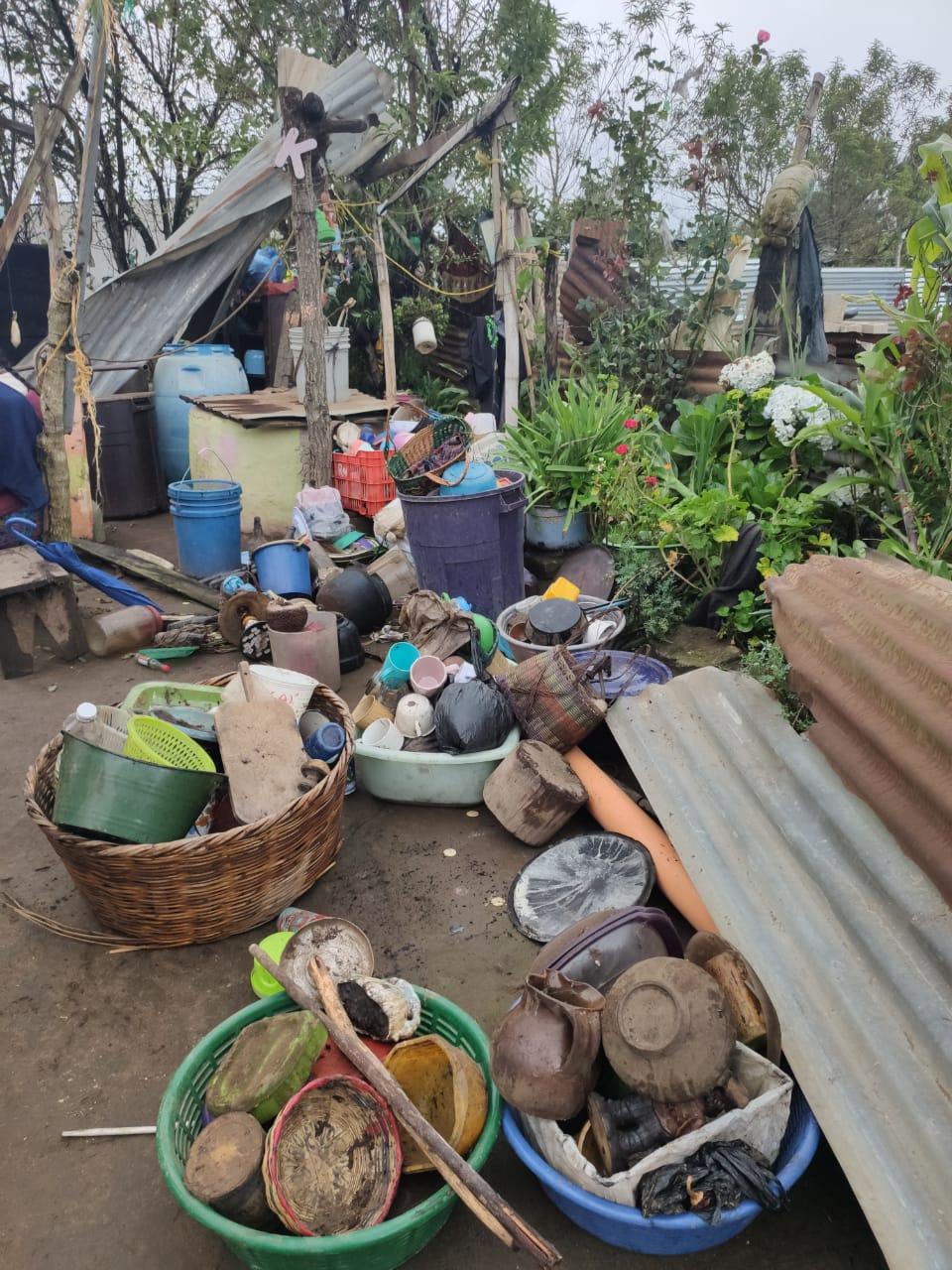 Daños por fuertes vientos en Patzún. Foto: Conred