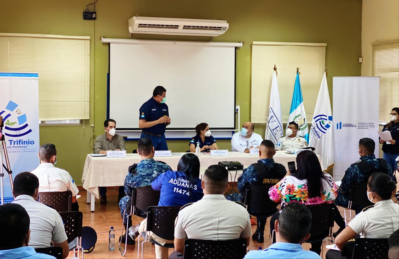 Vicepresidente participa en reunión contra la trata de personas en Chiquimula