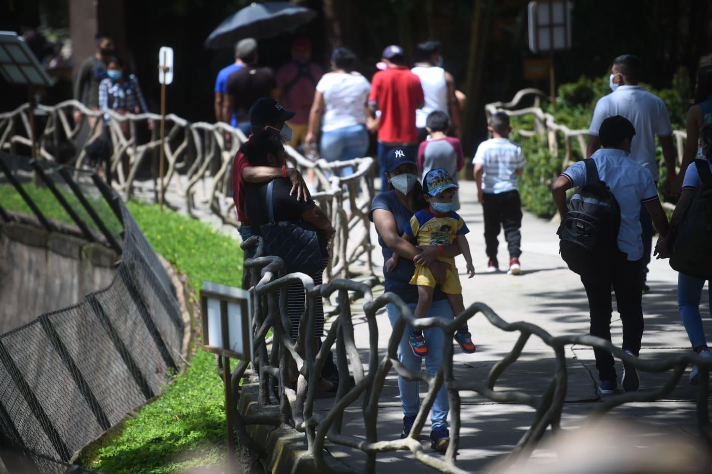 afluencia de personas en zoológico La Aurora