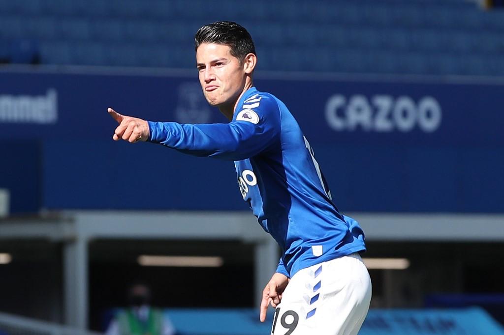 Primera anotación de James Rodríguez en la Liga Premier