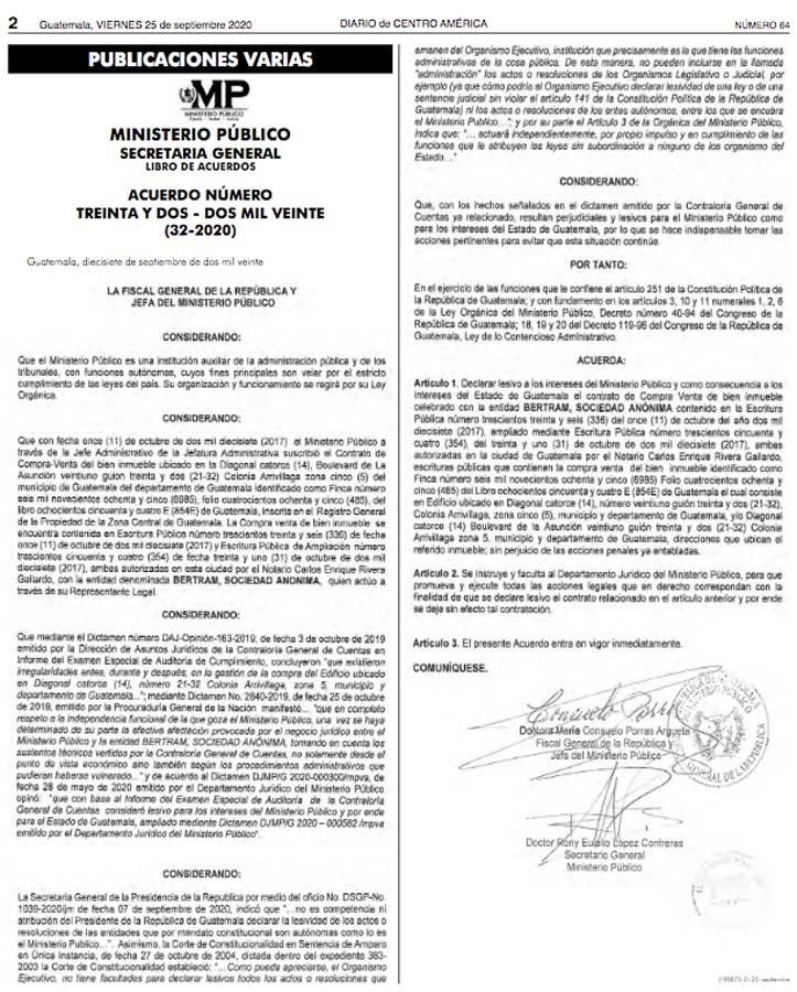 Acuerdo 32-2020 DCA