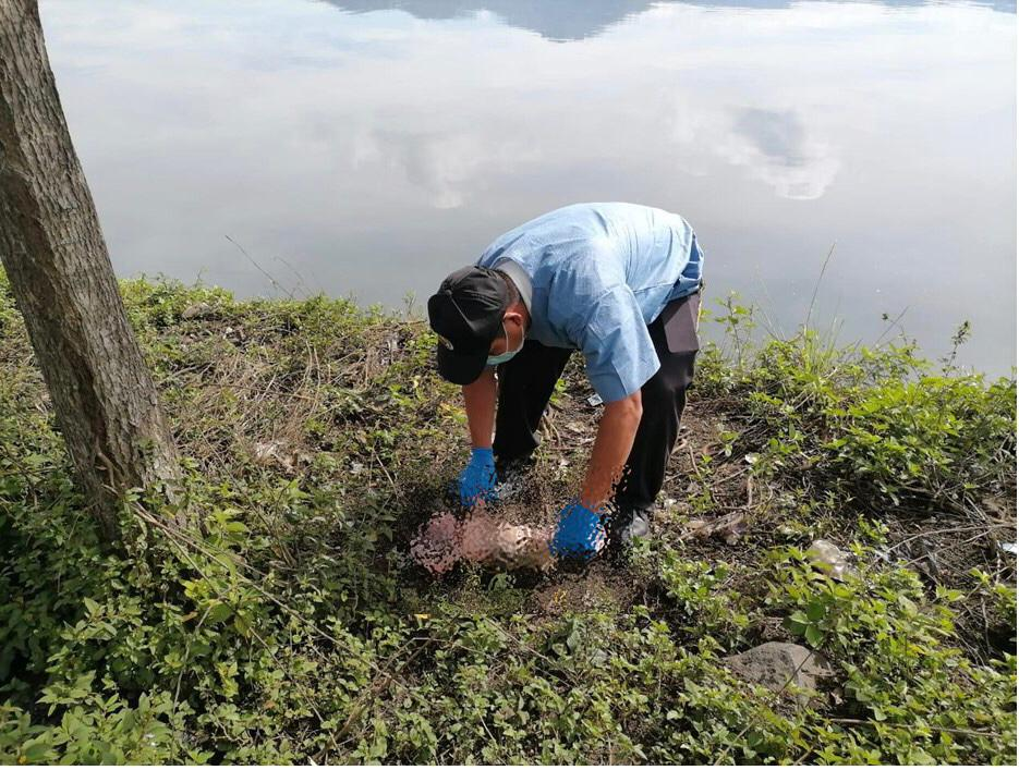 bebé abandonada en lago de Amatitlán