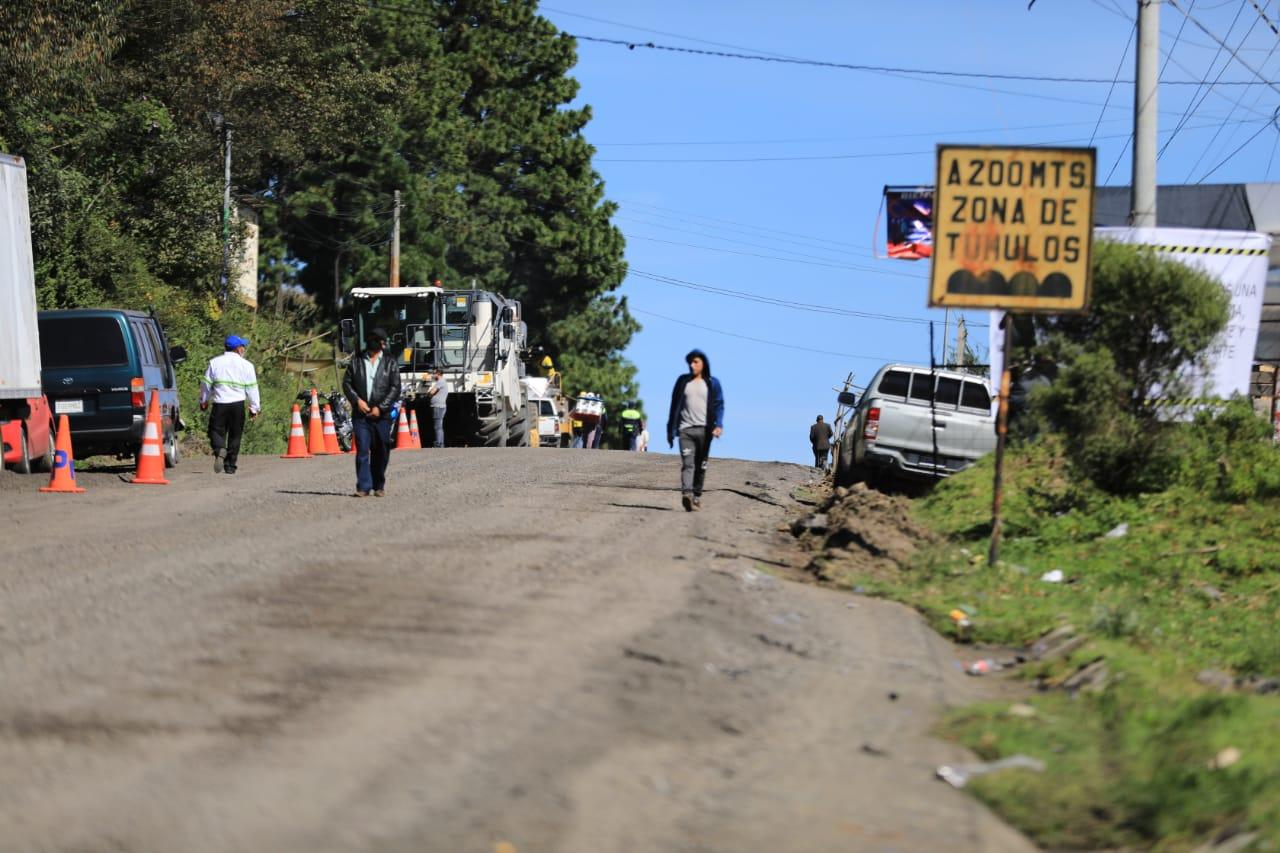 carretera en Totonicapán