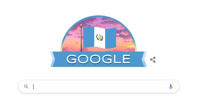 Google dedica su doodle al 199 aniversario de Independencia de Guatemala