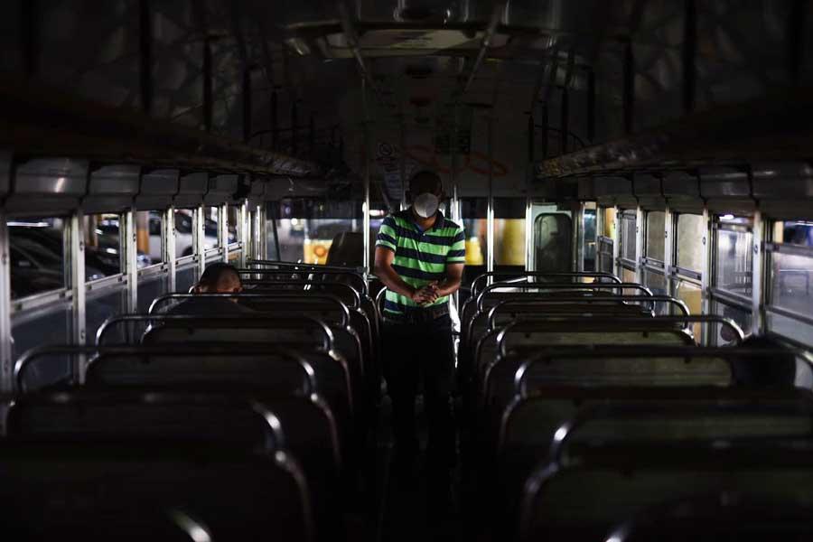 Interior de bus extraurbano