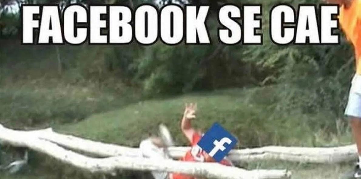 Memes por caída de Facebook