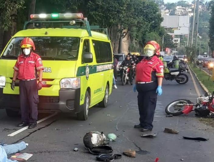 motorista accidentado en la zona 5