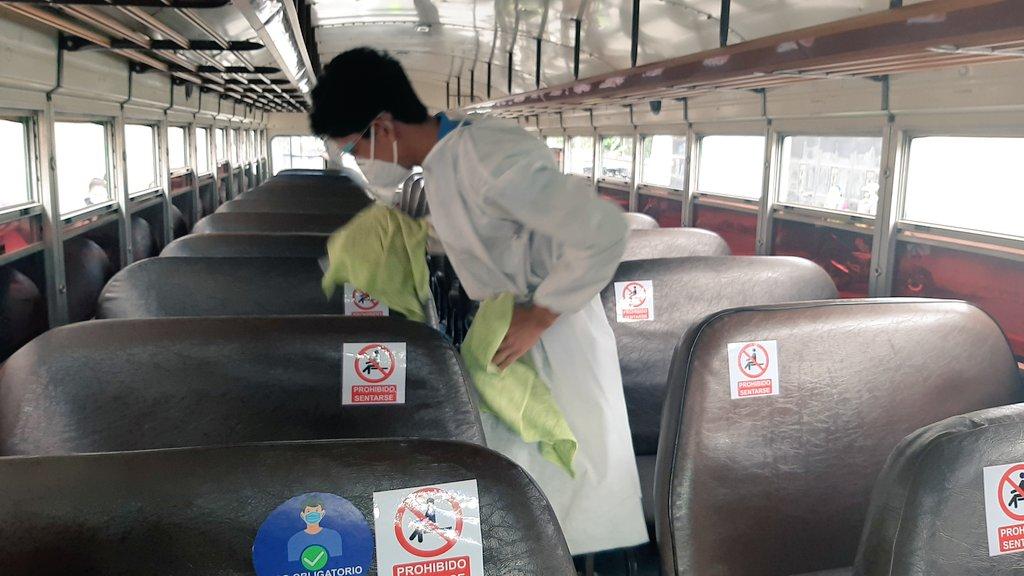 DGT verifica cumplimiento de protocolos por Covid-19 en buses extraurbanos