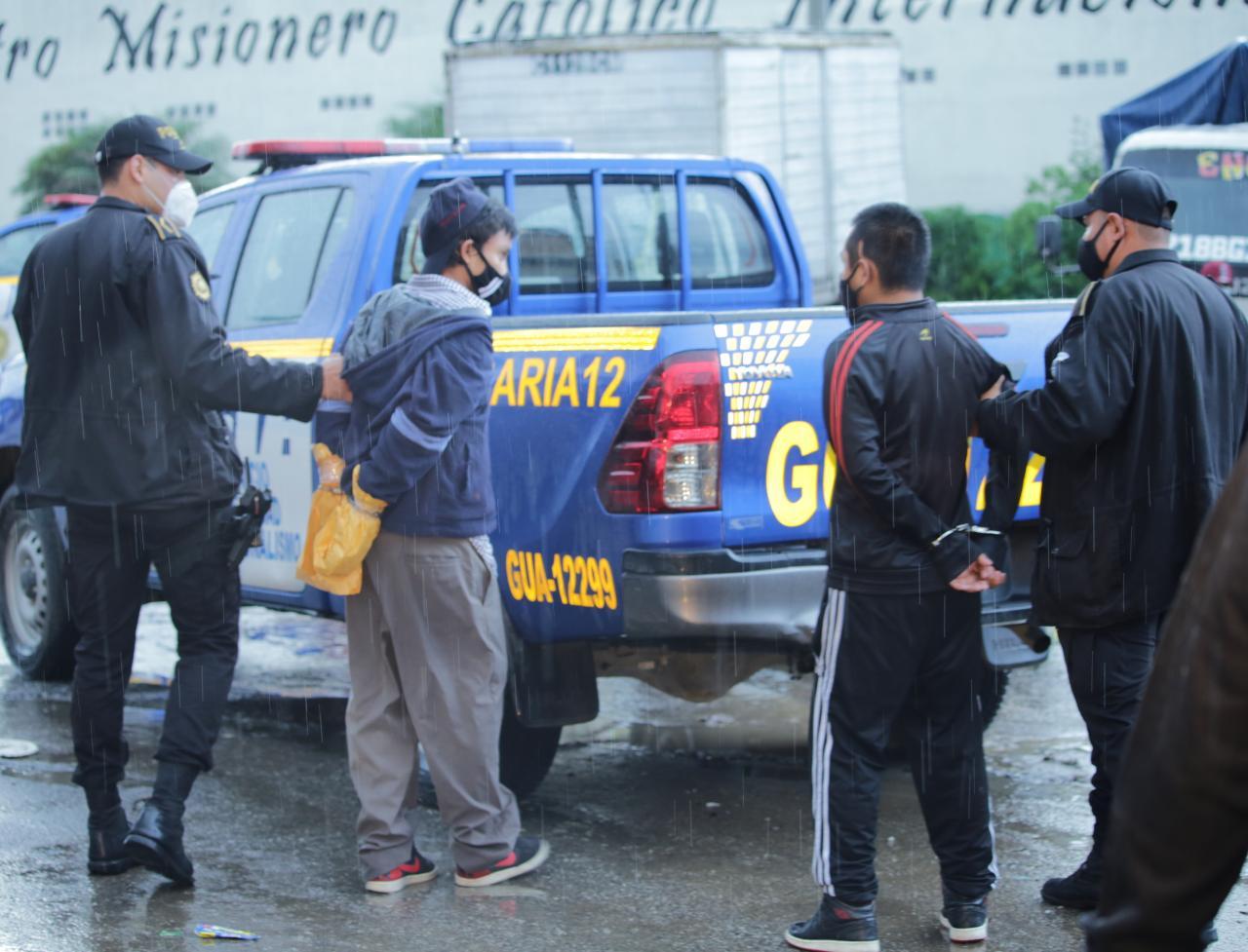 pandilleros capturados en la zona 6