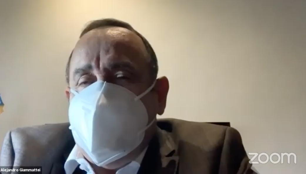 presidente Alejandro Giammattei habla del Parlacen