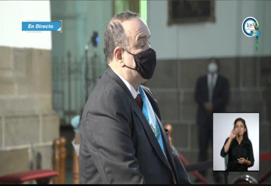 presidente Alejandro Giammattei participa en Te deum por independencia