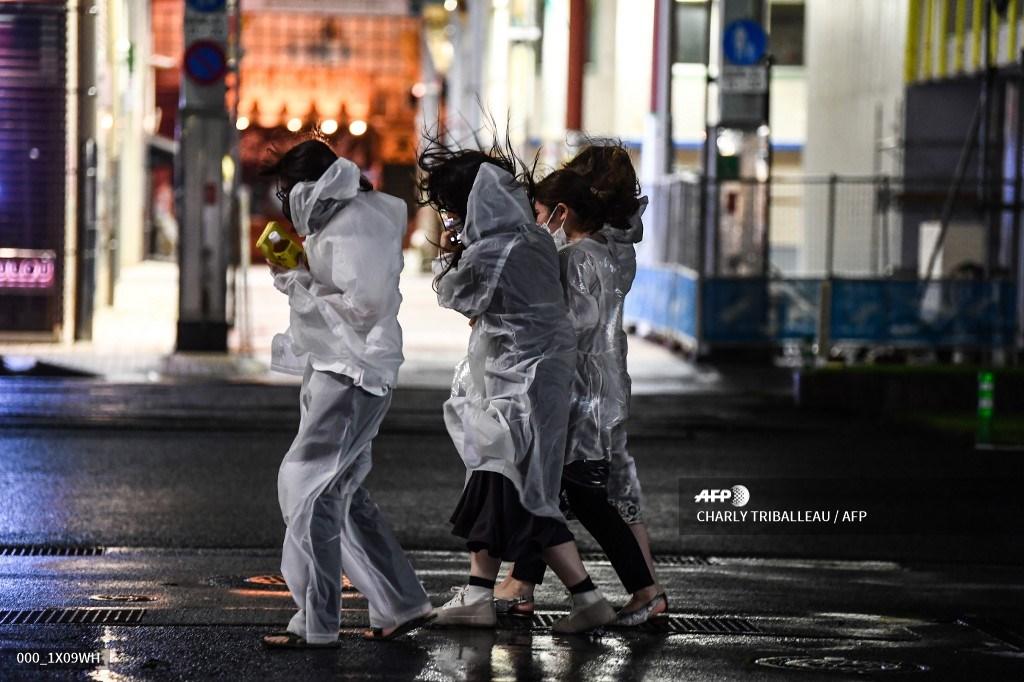 Tifón Haishen en Japón