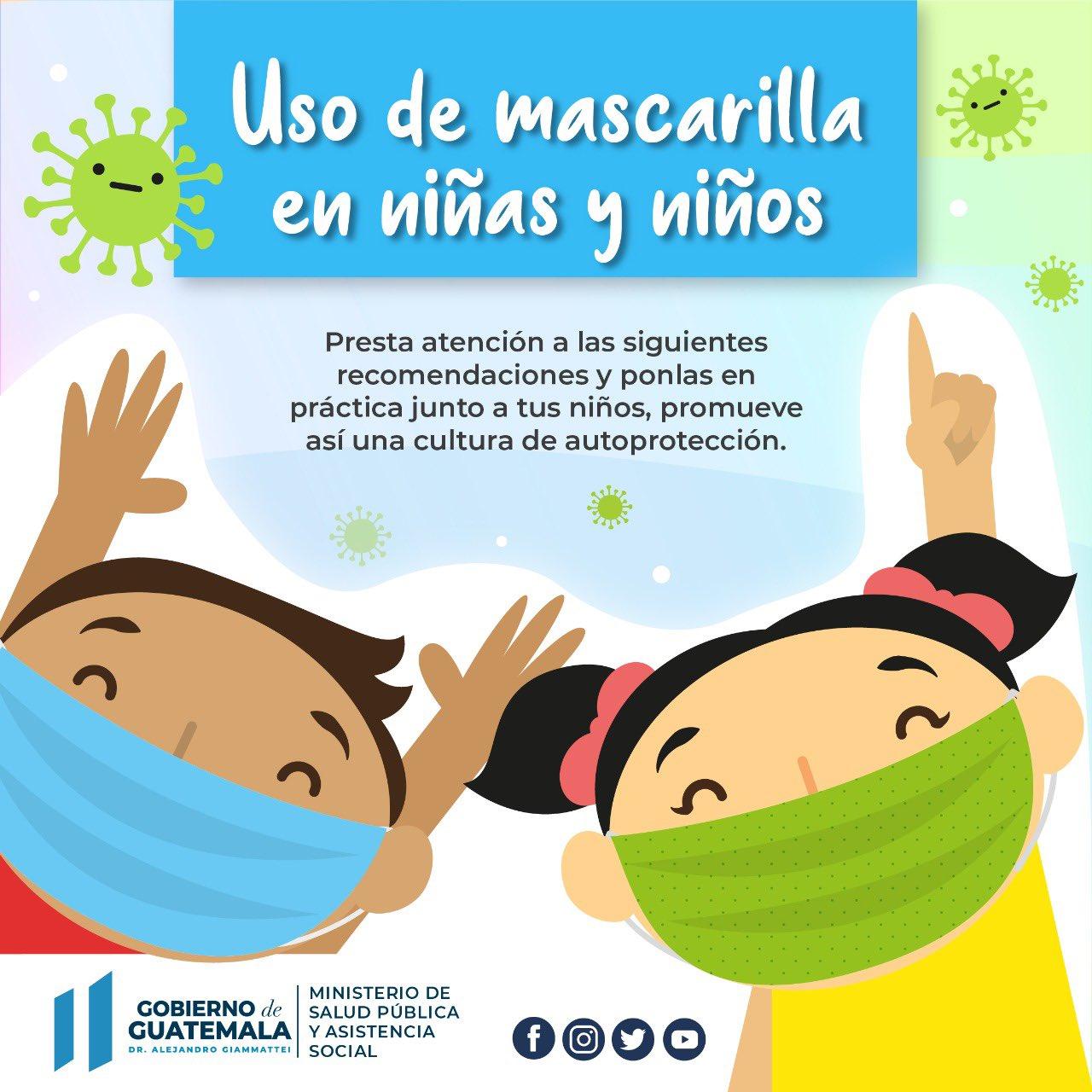 uso de la mascarilla en niños