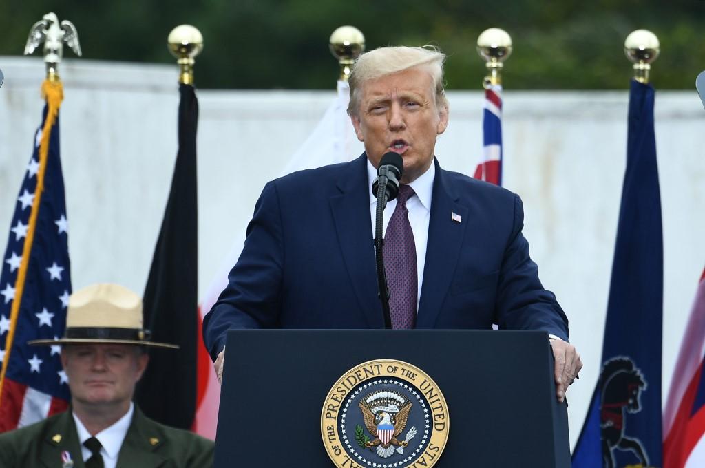 Donald Trump da discurso por aniversario de atentados del 11 de septiembre